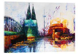 Acrylglas print  Cologne Cathedral Skyline - Renate Berghaus