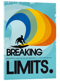 Acrylglas print  Surfer, Breaking limits - 2ToastDesign