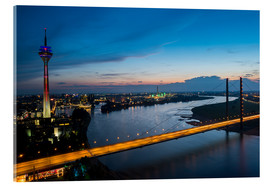 Acrylglas print  Dusseldorf Skyline at night - rclassen