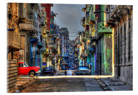 Acrylglas print  In the streets of Havana - HADYPHOTO
