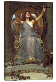 Canvas print  Circe biedt Odysseus de beker aan - John William Waterhouse