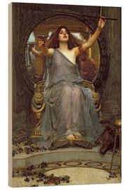 Hout print  Circe Offering the Cup to Ulysses - John William Waterhouse