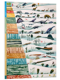 PVC print  Dinosaurs and geological history