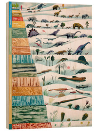 Hout print  Dinosaurs and geological history (German)