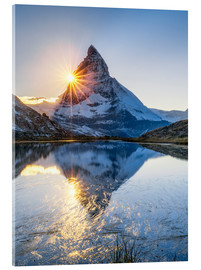 Acrylglas print  Riffelsee and Matterhorn in the Swiss Alps - Jan Christopher Becke