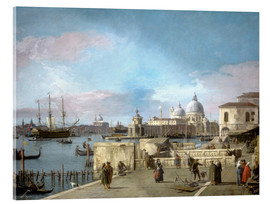 Acrylglas print  Entrance to the Grand Canal from the Molo - Antonio Canaletto