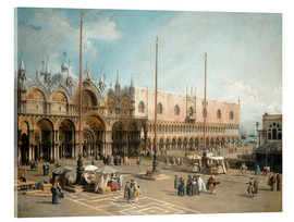 Acrylglas print  The Square of Saint Mark's - Antonio Canaletto