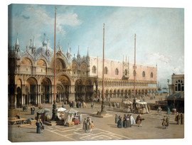 Canvas print  The Square of Saint Mark's - Antonio Canaletto