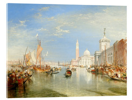 Acrylglas print  Venice, The Dogana and San Giorgio Maggiore - Joseph Mallord William Turner