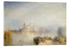 Acrylglas print  The Dogana and Santa Maria della Salute - Joseph Mallord William Turner