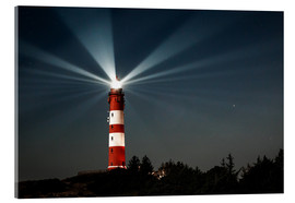 Acrylglas print  Lighthouse night on Amrum - Oliver Henze