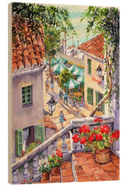 Hout print  Harbour Steps - Paul Simmons