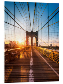 Acrylglas print  Brooklyn Bridge in the sunlight, New York City, USA - Jan Christopher Becke