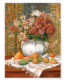 Premium poster Still Life with Flowers and Prickly Pears