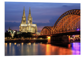 PVC print  Cologne Cathedral and Hohenzollern Bridge at night - Oliver Henze