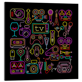 Acrylglas print  Entertainment icons
