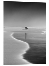 Acrylglas print  Lone surfer at the beach - Alex Saberi