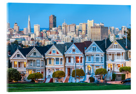 Acrylglas print  Painted Ladies, San Francisco