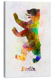 Canvas print  Berlin Bear