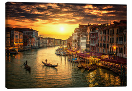 Canvas print  Grand Canal at sunset