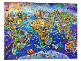 PVC print  Crazy world - Adrian Chesterman