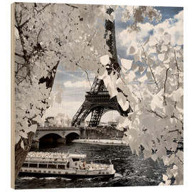 Hout print  Infrared Shipping in Paris - Philippe HUGONNARD
