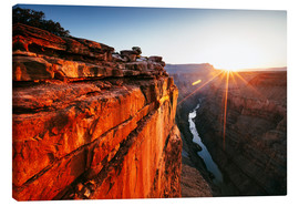 Canvas print  Beautiful sunrise on Grand Canyon and river Colorado, USA - Matteo Colombo