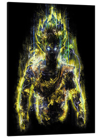 Aluminium print  50 Million Power Warrior Goku - Barrett Biggers