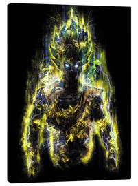 Canvas print  50 Million Power Warrior Goku - Barrett Biggers