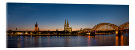 Acrylglas print  Cologne at sunset panorama - rclassen