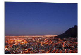 PVC print  Cape Town at night, South Africa - wiw