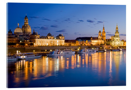 Acrylglas print  Dresden at night - Dieterich Fotografie