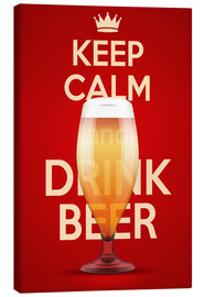 Canvas print  Keep Calm And Drink Beer