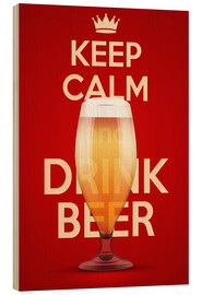 Hout print  Keep Calm And Drink Beer