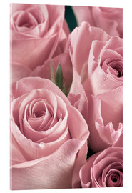 Acrylglas print  Bunch of pale pink roses