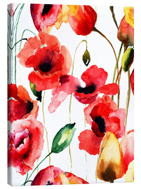 Canvas print  Poppy and Tulips flowers