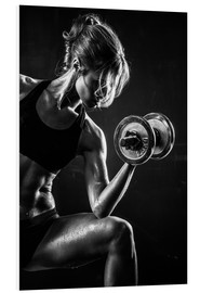 PVC print  Sportswoman with dumbbell