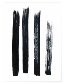Premium poster Abstract brush strokes