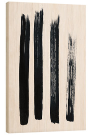 Hout print  Abstract brush strokes