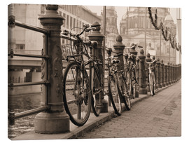 Canvas print  Bicycles on a promenade