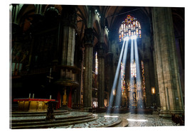 Acrylglas print  Beams of Light inside Milan Cathedral