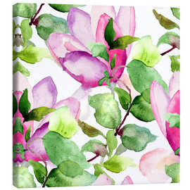 Canvas print  Magnolia pattern