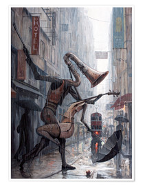 Premium poster  Life is a dance in the rain - Adrian Borda