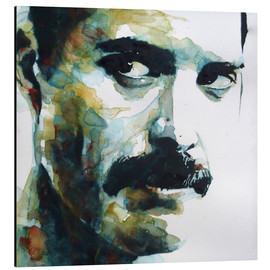 Aluminium print  Freddie Mercury - Paul Lovering Arts