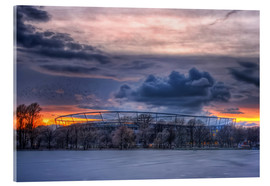 Acrylglas print  Clouds above the HDI Arena - Holger Bücker (BuPix)