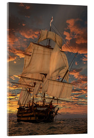 Acrylglas print  The HMS victory - Peter Weishaupt