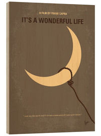 Hout print  It's A Wonderful Life - chungkong