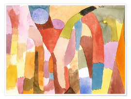 Premium poster  Movement of Vaulted Chambers - Paul Klee