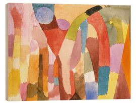 Hout print  Movement of Vaulted Chambers - Paul Klee