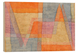 Hout print  Light and Sharpness - Paul Klee